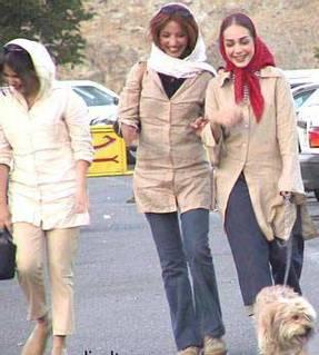 Iran kvinner med hund