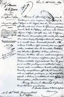 Fransk decret som skapte Algerie i det Nord afrikansk terrororium