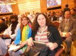 Den Kabylske delegasjonen. Kamira Nait Sid og Yasmina Oubouzar