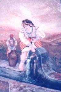 Kabylske kvinner i fontenen