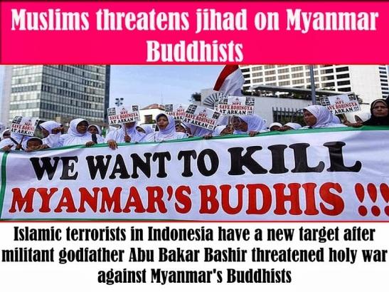 IndonesianMuslims-Kill BurmeseBuddhists2
