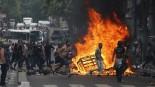Paris under Gaza demonstration