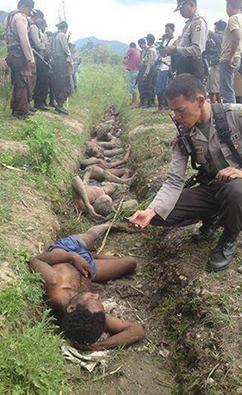 Papuanske ofre for den indonesiske regimet