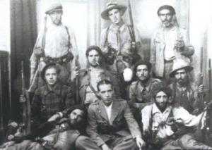 Kabylian anarchist, Spanish Civil War fighter and mechanic Sail Mohamed Ameriane ben Amerzaine. Kabylian anarchist, Spanish Civil War fighter and mechanic Sail Mohamed Ameriane ben Amerzaine.(pictured above sitting front row centre)
