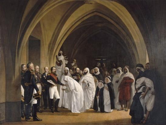 Napoleon lll receives the Arab-,muslim hero, Emir Abdelkader